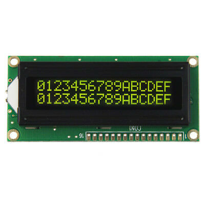 16x2 1602 162 162 Character Lcd Module Black Background Yellow Characters 5.0v