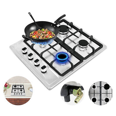 """23.2"""" 4 Burners Built-In Stove Top Gas Cooktop Kitchen Easy to Clean Gas Cooking"""