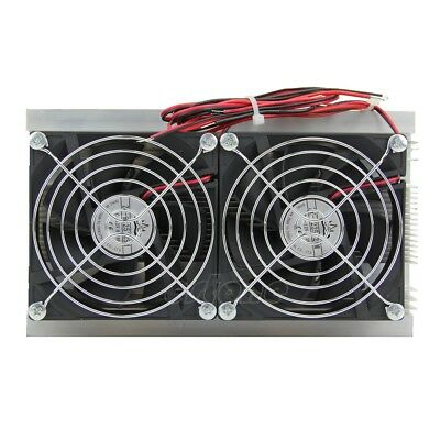 1pc Thermoelectric Peltier Refrigeration Cooling System Kit Cooler Double Fan