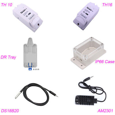 Sonoff Dr Tray Th10 Th16 Temperature Humidity Switch Case Ds18b20 Am2301 Sensor