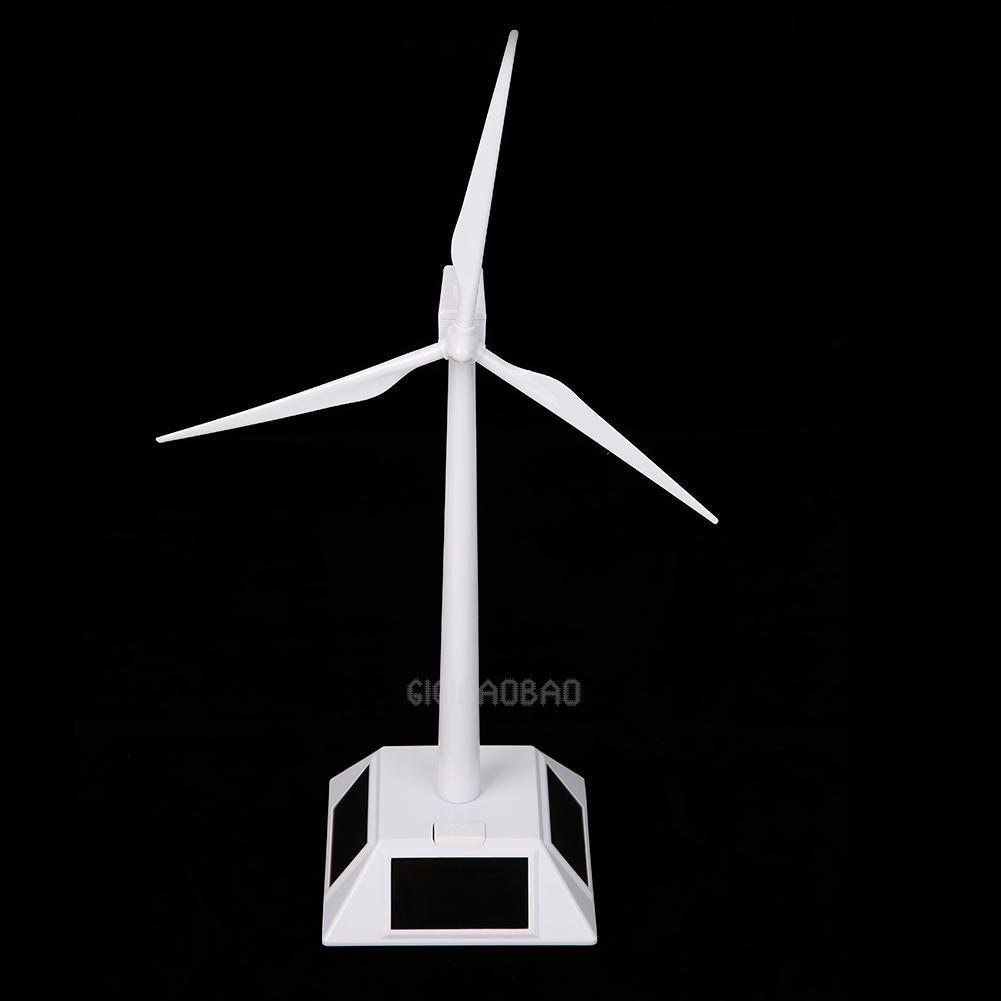 Desktop Model-Solar Powered Windmills/Wind Turbine&ABS Plastics White