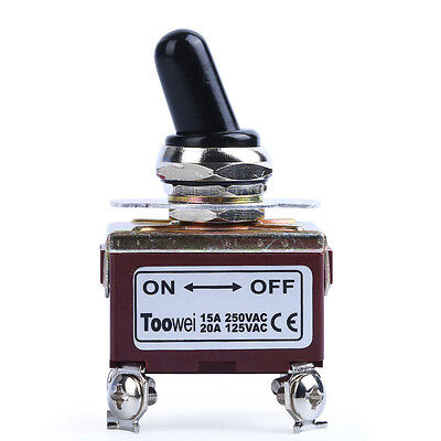 Heavy Duty 20a 125v 15a 250v Dpst Onoff 2 Position 4 Termtoggle Switch