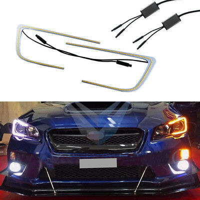 Light Bulb Rings - Switchback Dual-Color LED Circuit Board C-Rings For 15+ Subaru WRX STI Headlight