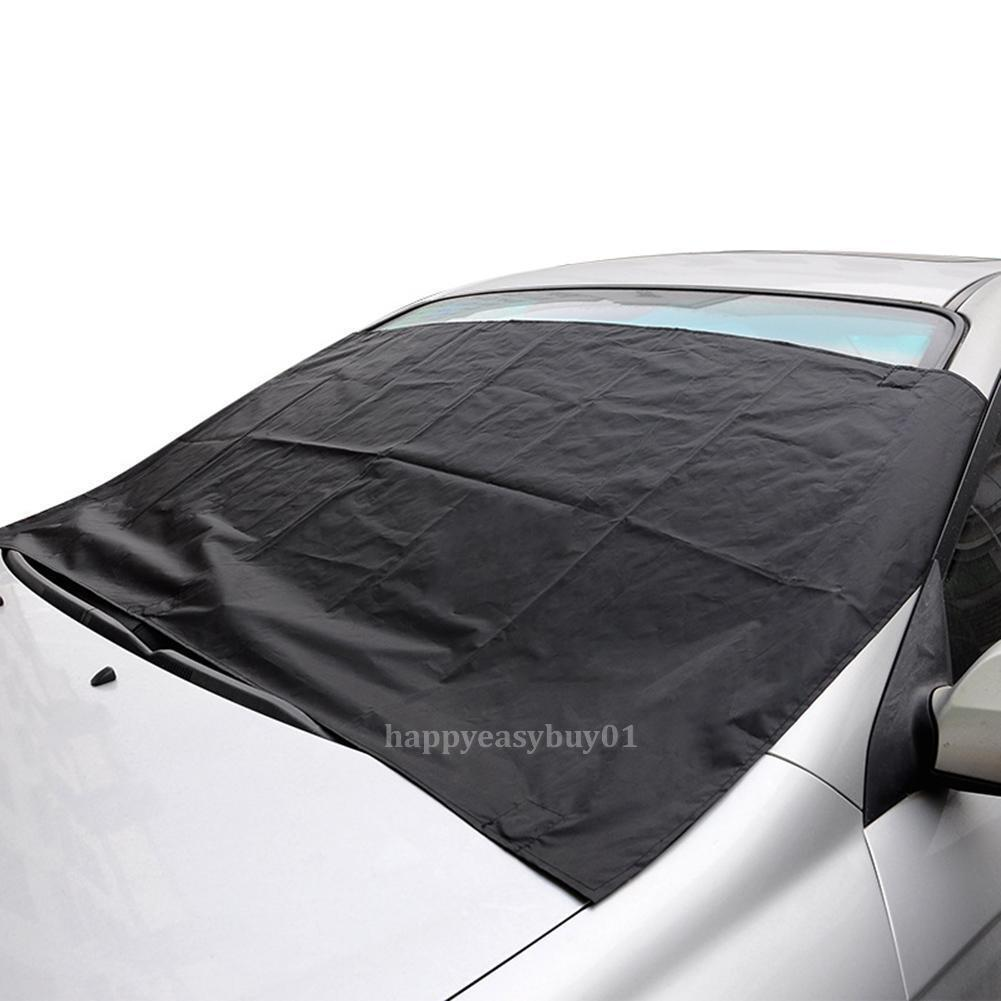 Car Magnetic Windshield Cover Snow Frost Ice Freeze Sun Shield Protector Black