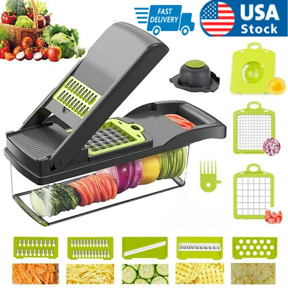 12 In 1 Food Vegetable Chopper Onion Fruit Dicer Chopper Veggie Slicer Kitchen