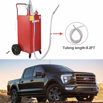 35 Gallon Gas Fuel Diesel Caddy Transfer Portable Tank Manual Pump Container Red