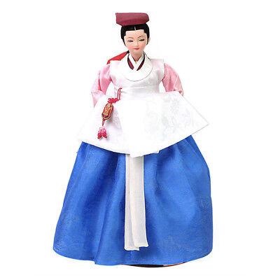 "Korean Traditional Handicraft Doll Women Doctors 13.7"" Collectible Figure Gift"