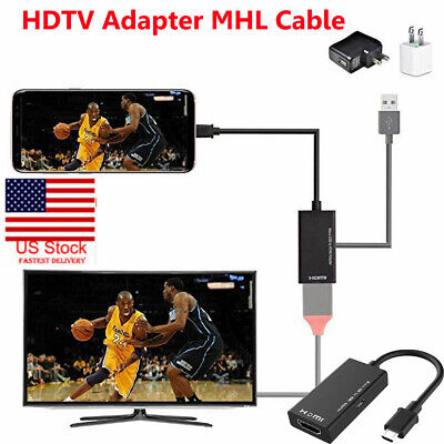 US Micro USB MHL To HDMI HDTV TV HD Adapter Cable for Cell Phone Samsung LG