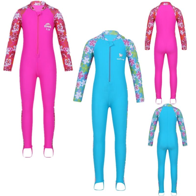 530ea517f5 Details about Girls Boys UV50+ Sun Protection Surfing Bath Swimwear  Swimsuit Swimming Costume