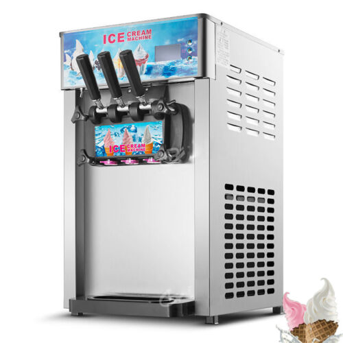 3 flavor frozen ice cream cones machine soft ice cream machine new arrival 607885600129 ebay. Black Bedroom Furniture Sets. Home Design Ideas
