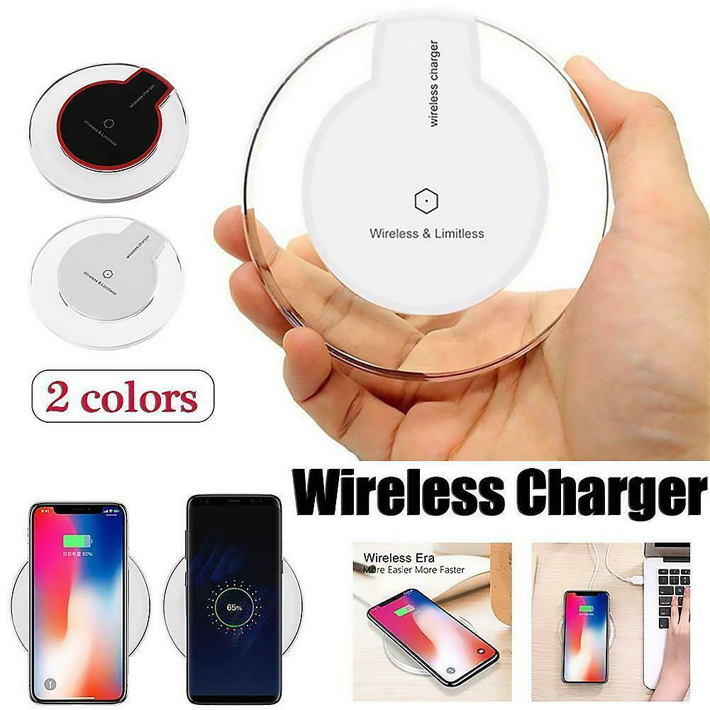 Crystal Phone Wireless Charger Adapter Fast Charging Pad for