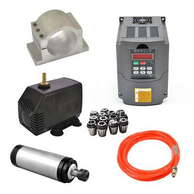 2.2kw 110v Water-cooled Spindle Motorhy Inverterpumppipeclampcollet Set