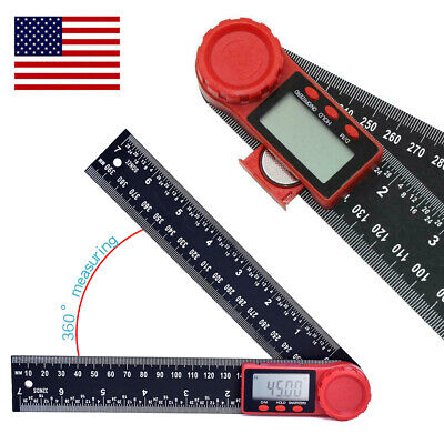 2 In 1 Digital Protractor Crown Trim Woodworking Angle Finder Ruler 8200mm Us