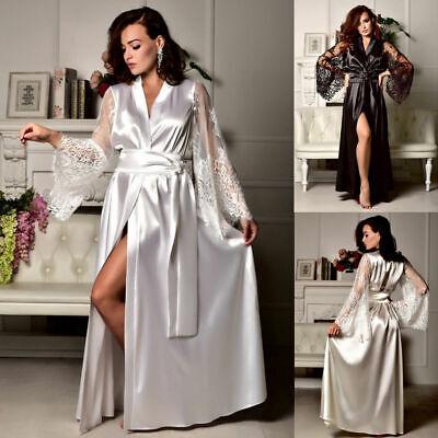 exy Nachthemd Nachtkleid Spitze Patchwork Pyjamas Lingerie (Kleid Pyjamas)
