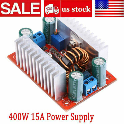 400W 15A DC Step-up Boost Converter Constant Current Power Supply LED Driver USA