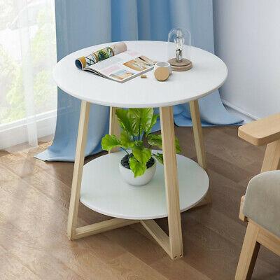 Schlafzimmer Runden Beistelltisch (Beistelltisch Couchtisch Rund Schlafzimmer Wohnzimmertisch Kaffetisch Weiß DM 1)