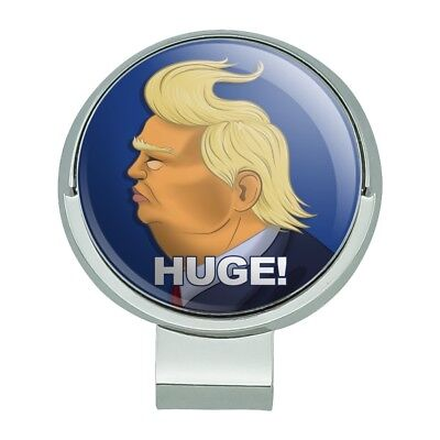 Huge! Trump Caricature Hair Funny Golf Hat Clip With Magnetic Ball Marker - Funny Hats With Hair