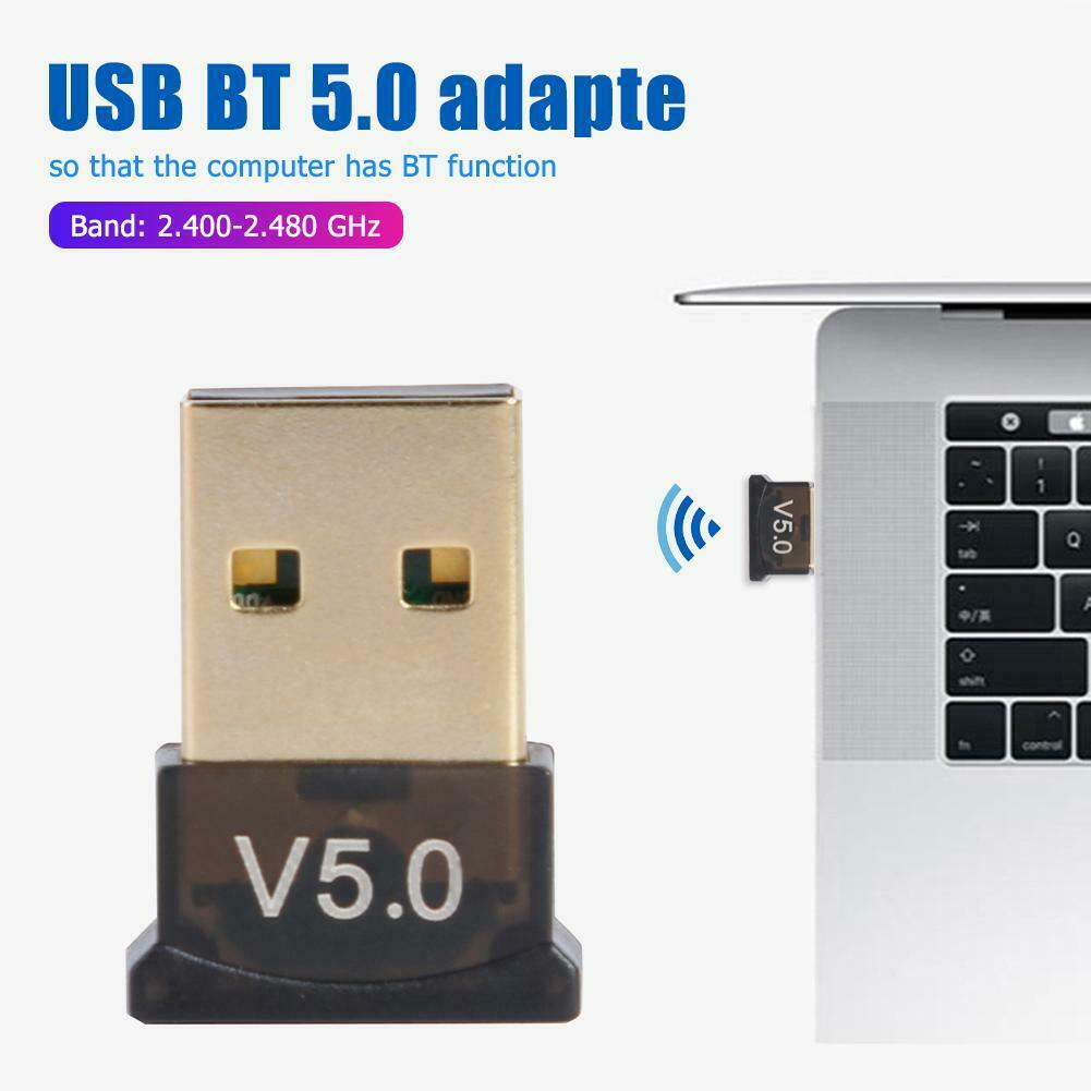 USB 2.0 Bluetooth 5.0 Adapter Dongle Music Receiver Transmit