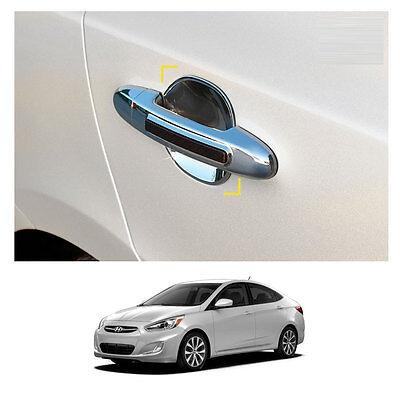 Chrome Door Handle Molding Trim Cover for 05-10 Accent Brio 4DR 3DR
