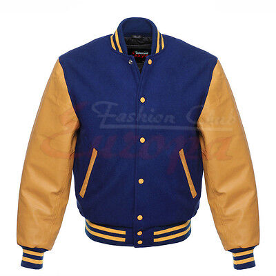 Varsity Letterman Wool Jacket with Real Leather Sleeves XS-4XL - Wholesale Letterman Jackets