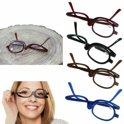 Damen Make Up Vergrößernd Brille Schminkbrille Faltbare Flip Lesebrille Brillen