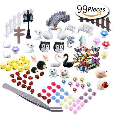 Fairy Garden Animal Miniature Ornaments Kit Set Cute Adorable Mini Terrariums](Animal Ornaments)