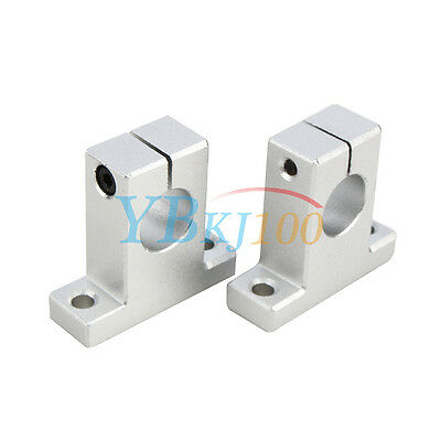2pcs Sk8101216 Linear Rail Bearing Shaft Guide Support Bracket Clamp Alloy