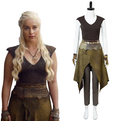 Game of Thrones Daenerys Targaryen Khaleesi Dothraki Costume Halloween Cosplay