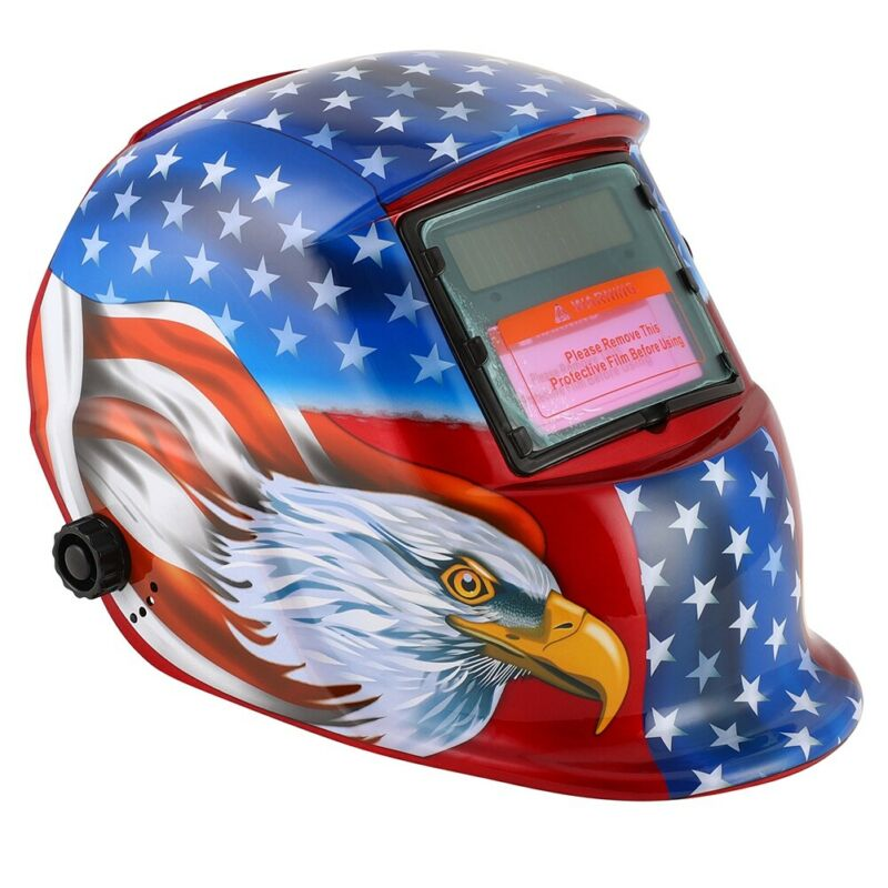 Solar Powered Welding Helmet Adjustable Auto Darkening Hood Tig Mig Arc Welding