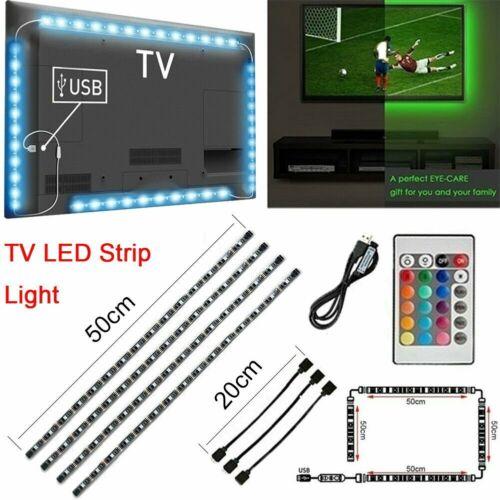 5V LED USB Backlight TV RGB Hintergrund-Beleuchtung Licht-Band Stripes Streifen