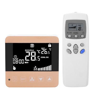 Digital LCD Raumthermostat Touchscreen Thermostat Heizung Kühlung Klimaanlage dd - Heizung Kühlung Thermostat