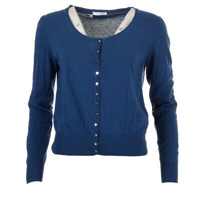 iBlues Max Mara Cardigan Navy Cotton Blend RRP £159 BG