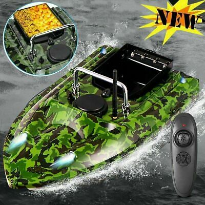 Remote Fishing Bait Boat RC Boat Fish Finder Speedboat with Light Rowing Nesting