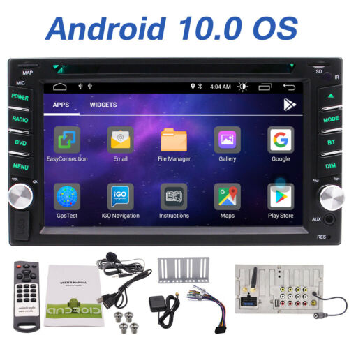 Double 2 DIN Android 10.0 GPS Navi Car Stereo DVD Player BT