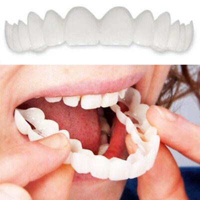 1Pc Unisex Snap On Lächeln Comfort Fit Flex Gefälschte Zähne Top Veneer
