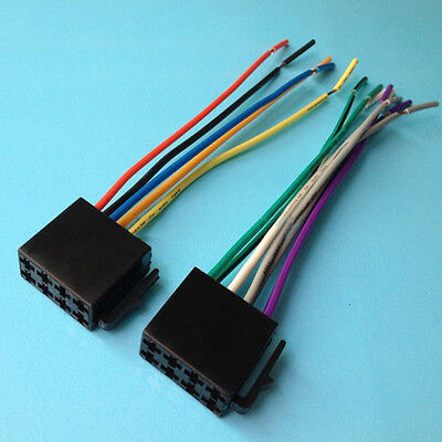 Universal Car Stereo System Female ISO Wire Harness Adapter Connector Cable
