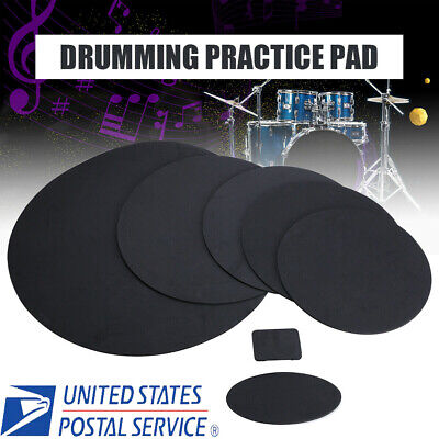 Sound-off Bass Snare Drum Mute Silencer Drumming Rubber Practice Pad Set (Bass Drum Silencer Pad)