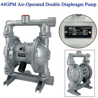 44gpm Air-operated Double Diaphragm Pump 1-12 Inlet Outlet Industrial Fluid