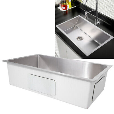 "Deep Mount Drop In Stainless Steel Single Bowl Kitchen Sink 30"" Home Hardware"