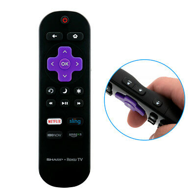 New Lc Rcrus 17 Remote For Sharp Roku Tv With Netflix Hbo Sling Amazon App Key