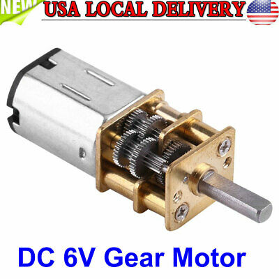 Dc 6v High Torque 11000 Gear Box Reduction Geared Motor 10rpm Us