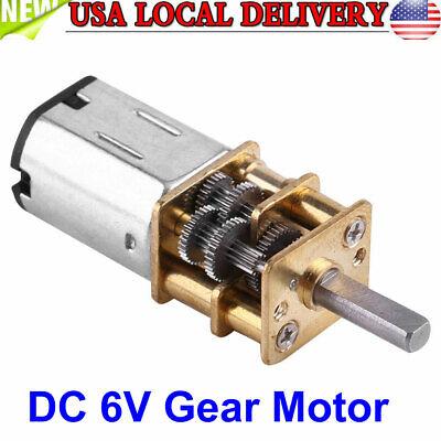 Dc 6v High Torque 11000 Gear Box Reduction Geared Motor 10rpm Us