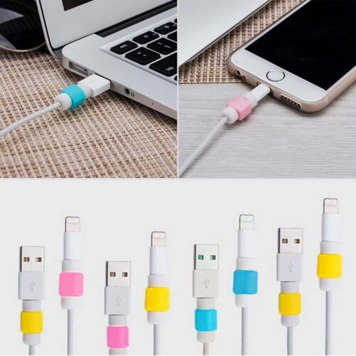10pc Chic USB Charger Cable Cord Protector Saver Cover for iPhone iPad Data Wire