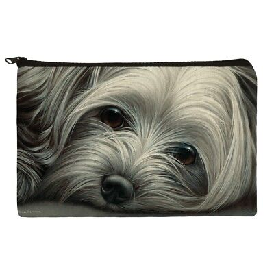 Yorkshire Terrier Yorkie Tired Sleepy Dog Makeup Cosmetic Bag Organizer Pouch