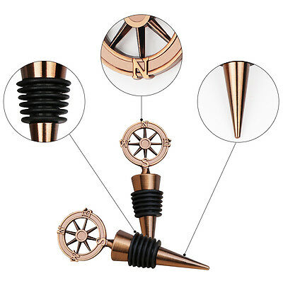 Nautical Compass Wine Bottle Stoppers Wedding Guest Favors Party Gift Souvenirs  (Wedding Guest Gift)