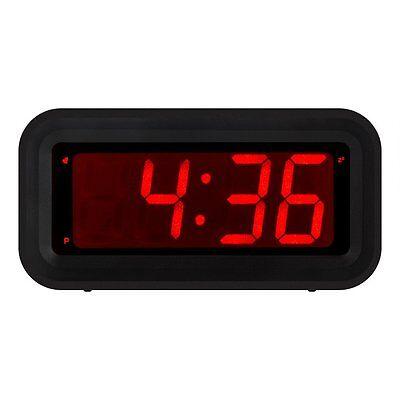 Kwanwa Travel Alarm Clock with LED Display (Black) Battery Powered | Small Home