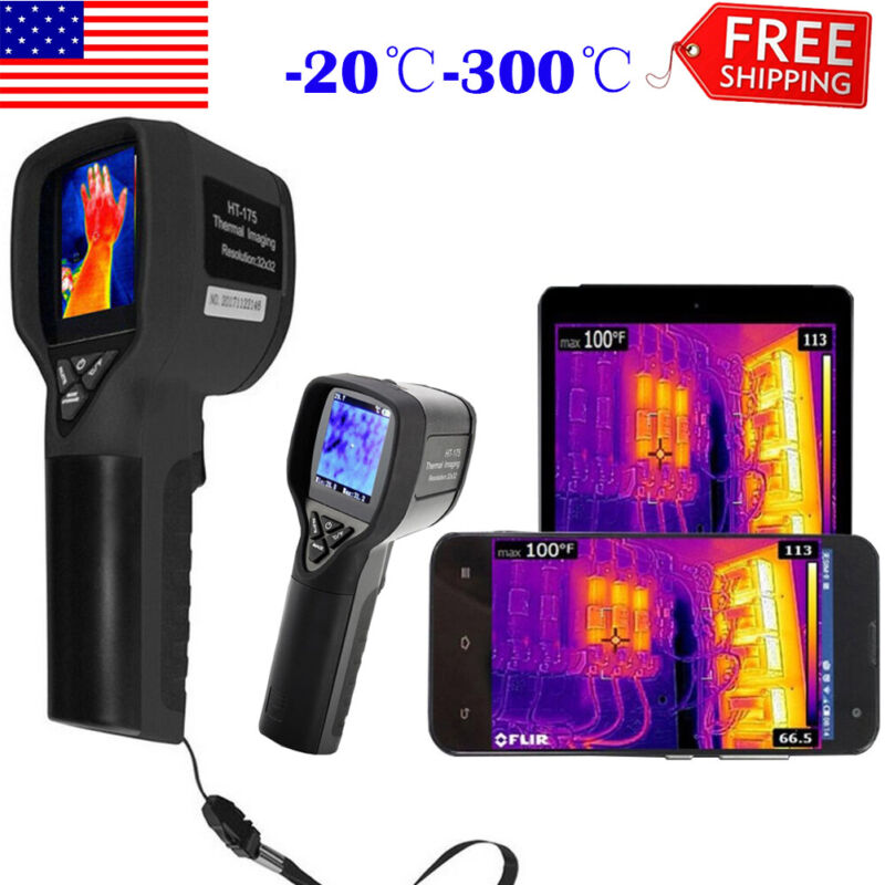 HT-175 Infrared Thermal Imaging Camera Digital IR Thermometer Imager -20℃-300℃