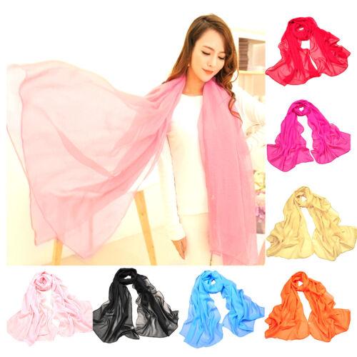 Scarf - Women Long Candy Color Soft Chiffon Scarf Wrap Shawl Scarves Fashion Beach Scarf