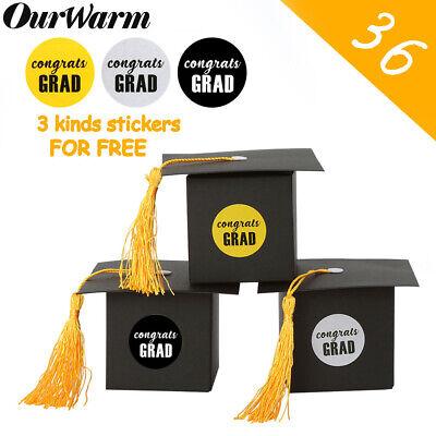 Graduation Cap Party Favors (36Pcs Graduation Candy Box Grad Cap Chocolate Gift Boxes Graduation Party)