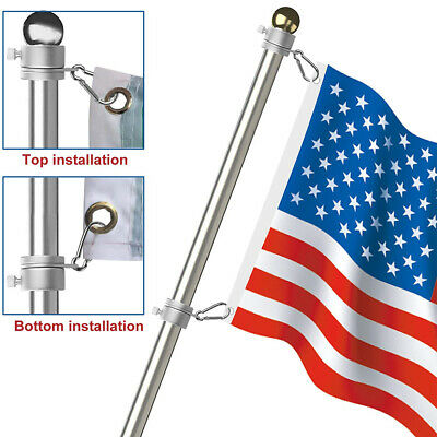 - US Alloy Metal Flag Pole Flagpole Rotating Rings Clip Anti Wrap Grommet Mounting